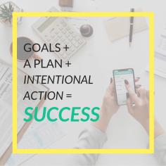 goals + a plan + intentional action = success