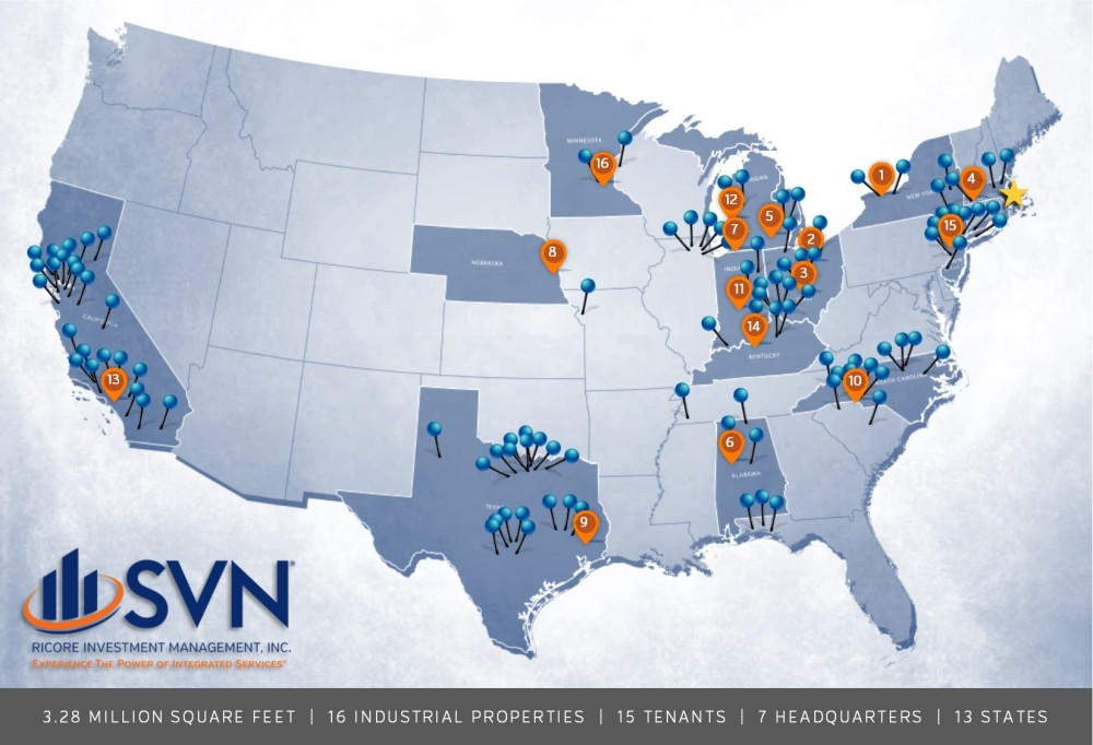 Canam and SVN Office Map
